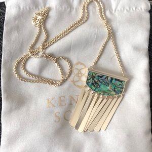 NWT Kendra Scott Gold Abalone Ellen Necklace